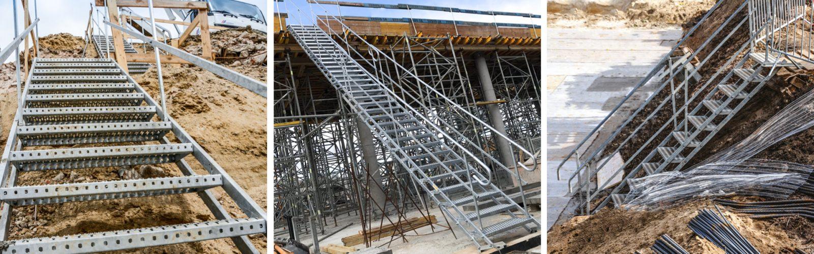 tillfälliga trappor och trapphus